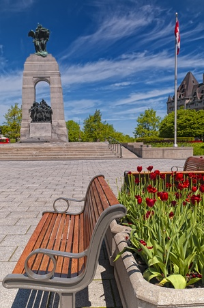 The National War Memorial in Ottawa, Canada.