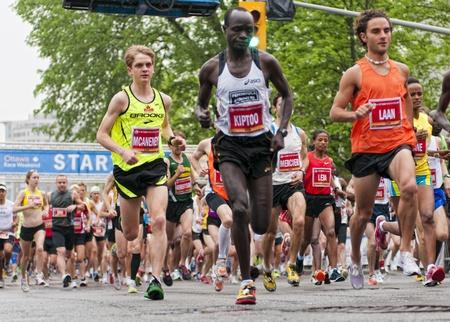 The start of the 2011 Ottawa Marathon, May 29 2011, Ottawa, Canada.
