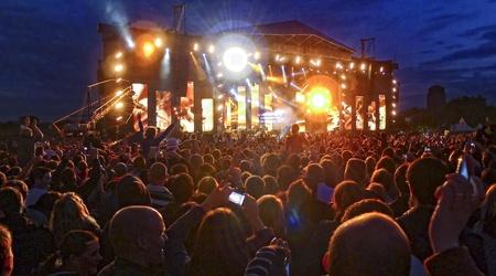 Kings of Leon performing live in Hyde Park, London, June 23 2011.