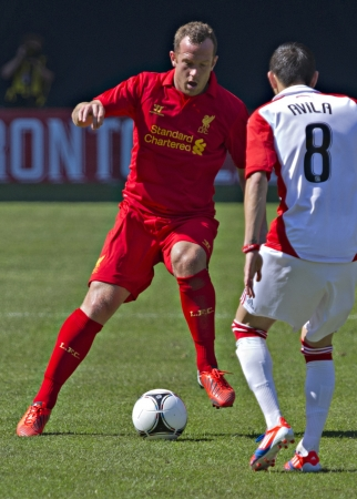 Liverpool midfielder Charlie Adam Liverpool's first pre-season match of their North American tour against Toronto FC at the Rogers Centre in Toronto, Canada, July 21 2012.