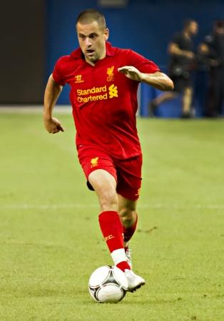 cole: Joe Cole durante il Liverpool la prima partita di pre-season del loro tour in Nord America contro il Toronto FC al Rogers Centre di Toronto, Canada, 21 luglio 2012.