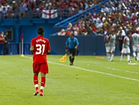winger: Promising young winger Raheem Sterling during Liverpool