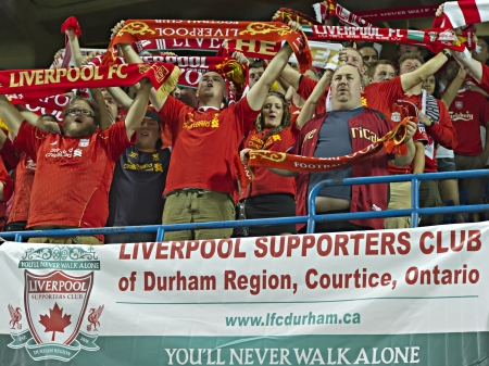Liverpool fans turned out in their thousands to watch Liverpools first pre-season match of their North American tour against Toronto FC at the Rogers Centre in Toronto, Canada, July 21 2012.