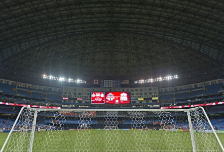 The Rogers Centre with the roof closed after Liverpool's first pre-season match of their North American tour against Toronto FC at the Rogers Centre in Toronto, Canada, July 21 2012.