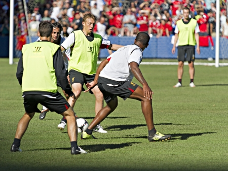alberto: Brazilian midfielder Lucas Leiva during Liverpool FC training session prior to Liverpools first pre-season match of their North American tour against Toronto FC at the Rogers Centre in Toronto, Canada, July 20 2012.