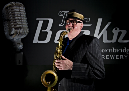 sheffield: Musician Bob Swift playing the tenor saxophone during a gig at the Greystones with his four-piece rhythm & blues band