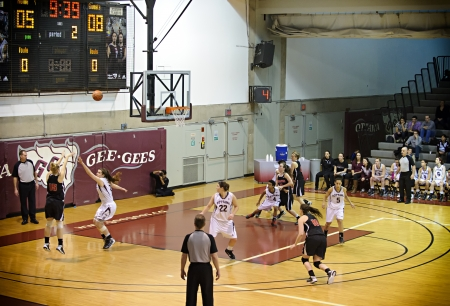 OTTAWA - MARCH 2: OUA East Final between Carleton and Ottawa on March 2 2013 in Ottawa, Canada. Carleton won 50-43 to progress to the CIS Final 8.