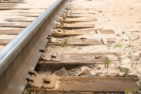 railtrack: Railway track in sand