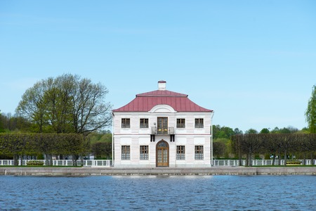 waterfront property: Old mansion near lake (Marly palace, Russia)