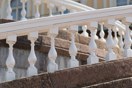 balustrades: Multiple tiers of white balustrades