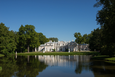 waterfront property: View of Chinese Palace in Oranienbaum, Russia