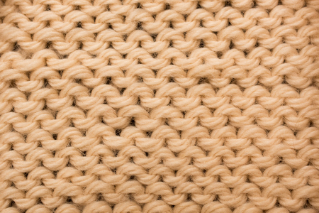 fash: Beige Knitted Wool Abstract Background, Top View