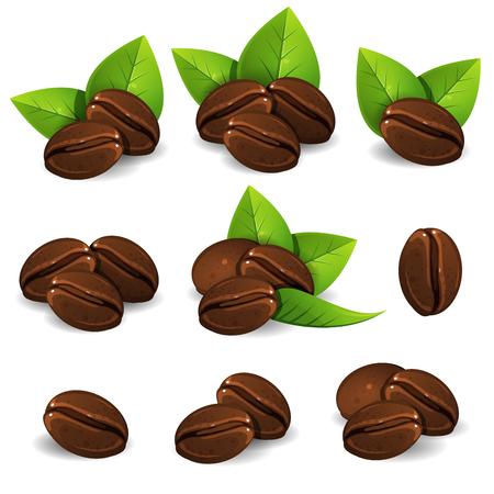 Illustration de grains de café Vecteurs