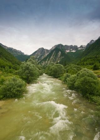 raged: Raged river in alps in primorska region in slovenia