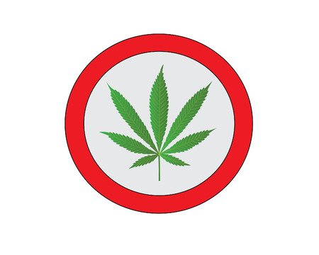 tetrahydrocannabinol: Cannabis sign Illustration