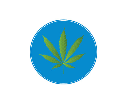 cannabis sativa: Blue cannabis sign