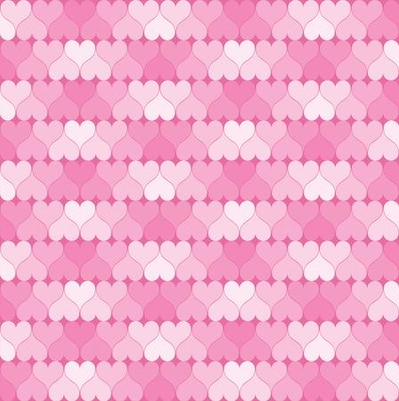 ピンクの心のパターン