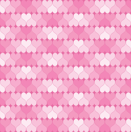 heart abstract: Pink hearts pattern