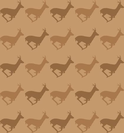 roebuck: Running deer pattern