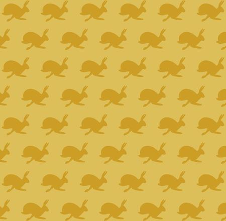 Running hare pattern Vector