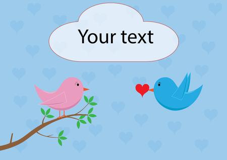 woo: Love birds - delivering heart, love