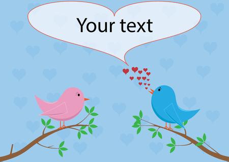 woo: Love birds - singing love song