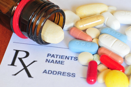 Prescription pills Stockfoto