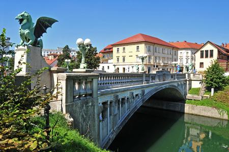 Draak brug, Ljubljana, Slovenië