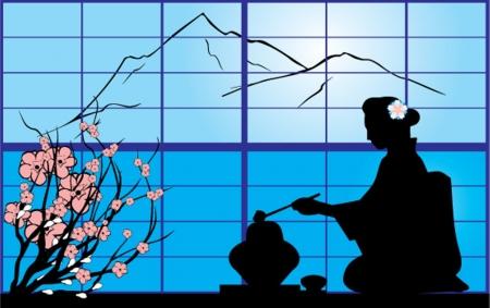 ceremonies: tea-ceremony Illustration