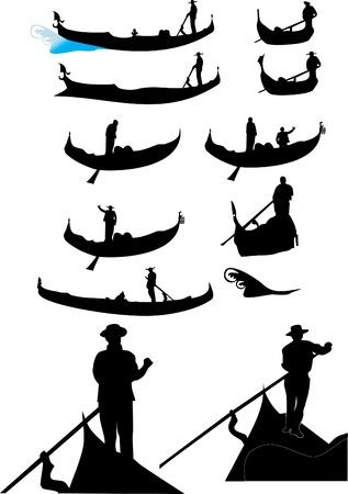 gondolas: Gondolas in Venice