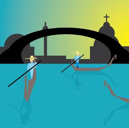 Gondola in Venice Vector