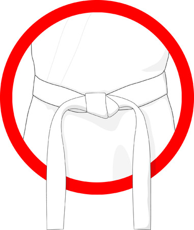 martial arts belt white