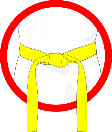 dan: martial arts belt yellow