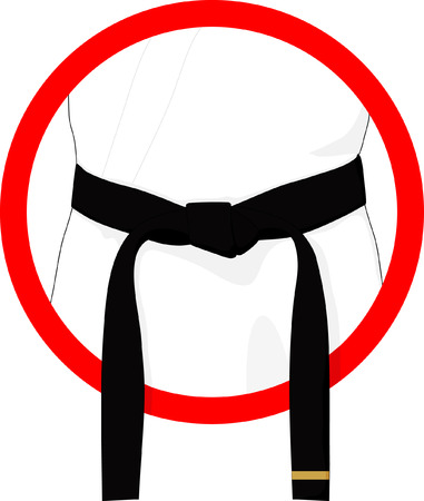 arts: martial arts black belt Illustration