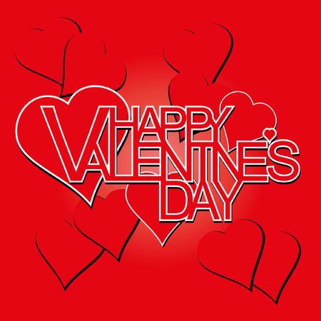 love hearts: happy valentines day