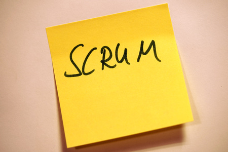 Yellow Sticky Note Scrum Agile User Scrum 免版税图像