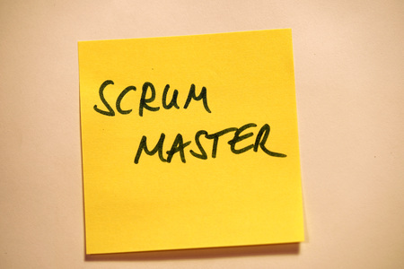 Yellow Sticky Note Scrum Agile Scrum Master Stock Photo