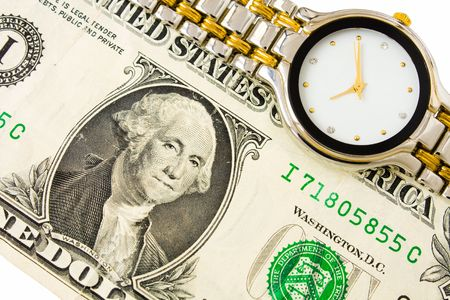 Dollar and clock