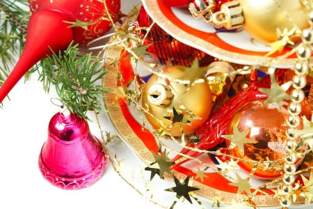 close-up of christmas ornament Stock Photo