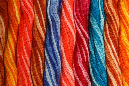 multi-colored wool . background Stock Photo