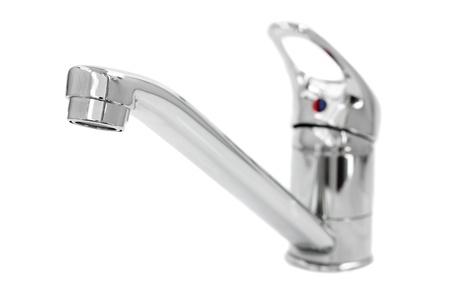 faucet on white background