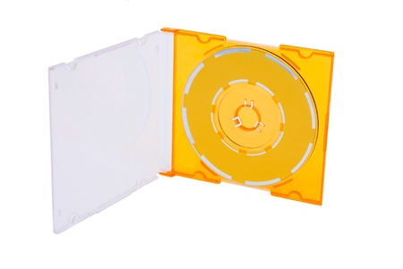compact disc in box .white background Stock Photo