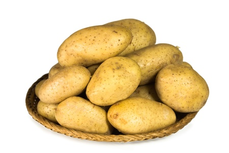 potato on white background Stock Photo