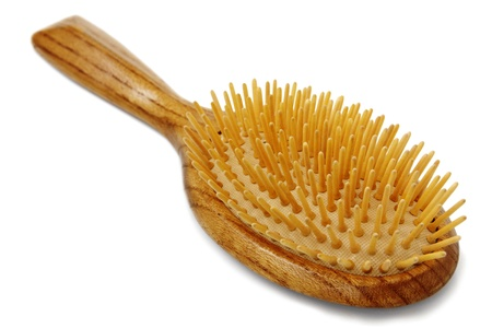 hairbrush on  white background Stock Photo