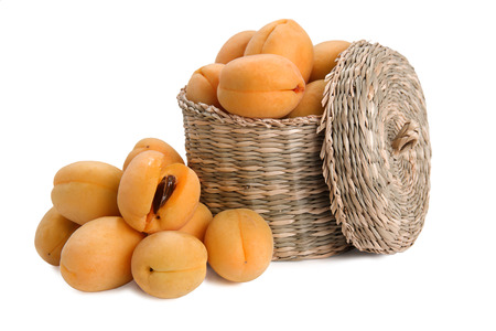 apricots and basket