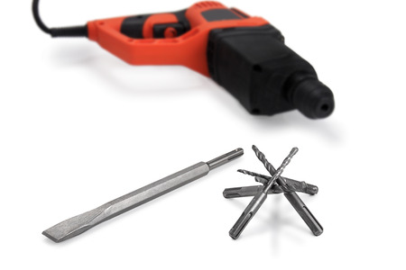 Drill Bit and drill  Stock Photo