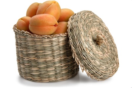 apricots with basket