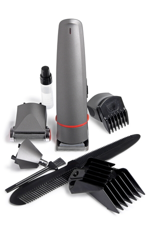 Set for a hairstyle and shaving on white Background