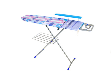 Ironing board on white background