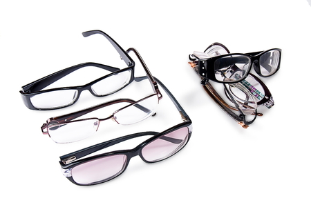 eyeglasses on white background Stock Photo